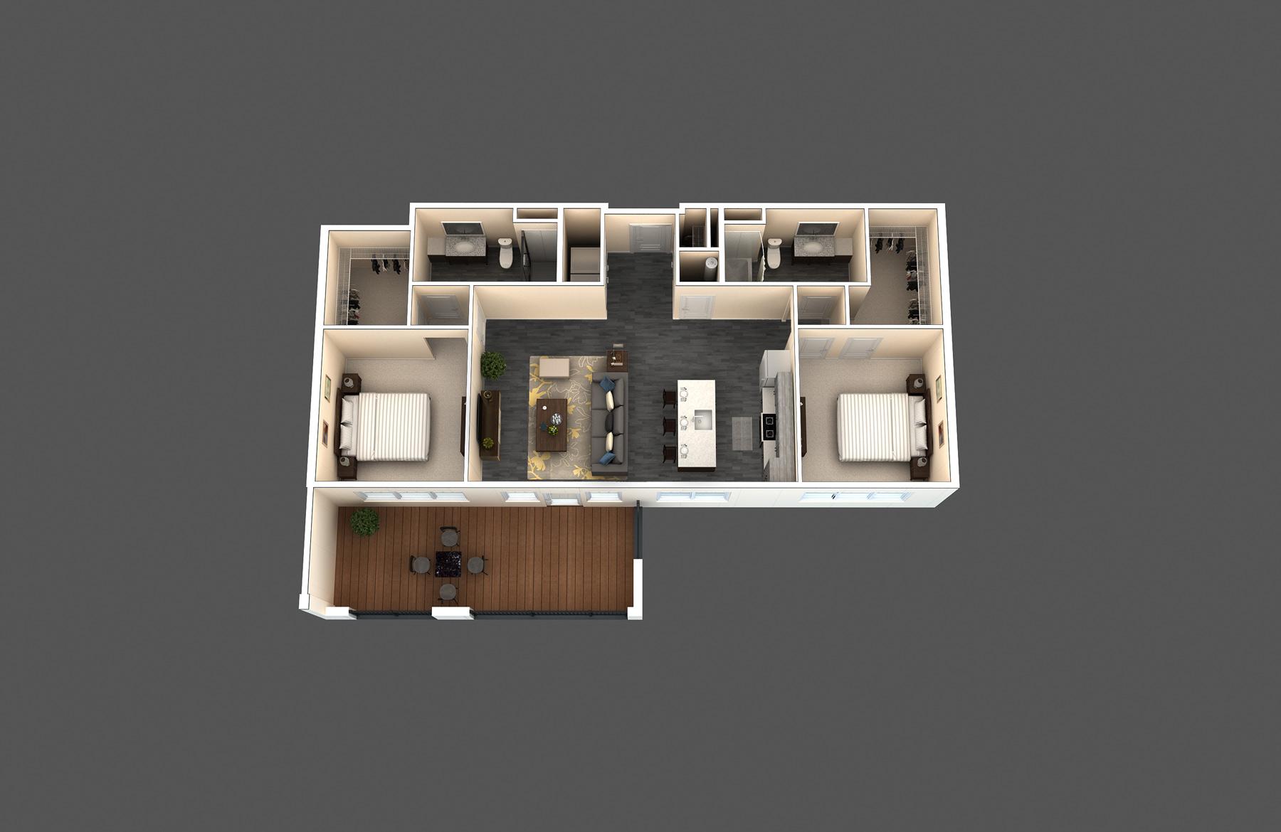 The Bodega floor plan